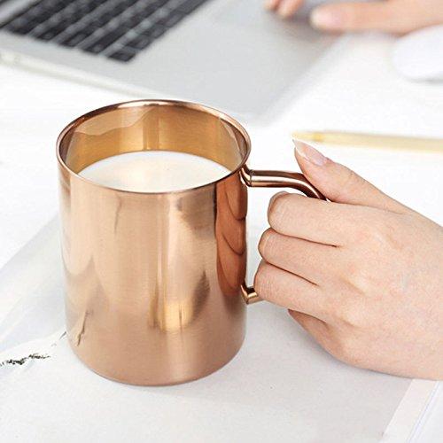 Backpacking mug 400ml Coffee Mug Double Wall Stainless Steel Mug Polished Tea Beer Drinking Cup