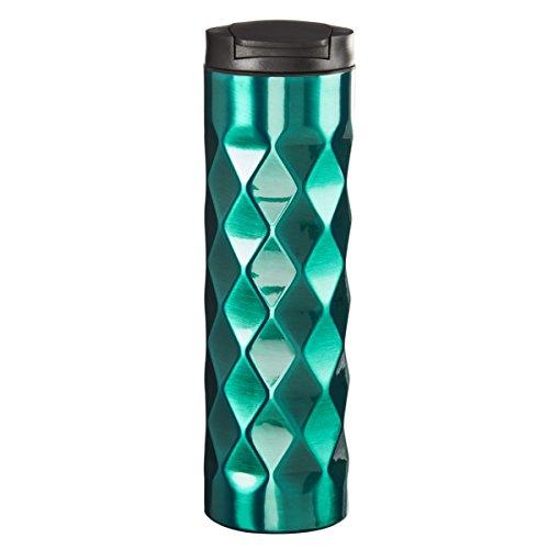 Design for Living Stainless Steel double Wall Diamond Mug Teal 18 oz