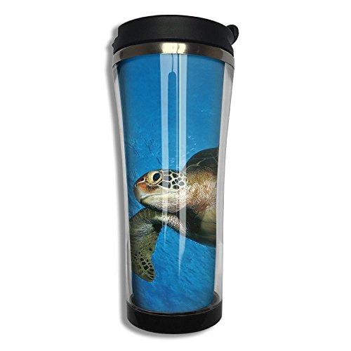 Sea Turtle Flip Top Lid Double Wall Stainless Steel Mug Hot Cold Tumbler Liquid Tight Travel Coffee Mug Vacuum Sealed Drink Bottle