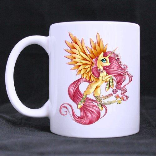 Cartoon Pretty Pegacorn Unicorn Horse Customized Design White Mug Coffee Mug Creative Milk Mug Personalized Tea Cup 11OZ