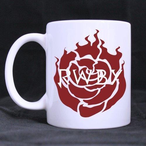 Cartoon Red Rose Pattern Customized Design White Mug Coffee Mug Creative Milk Mug Personalized Tea Cup 11OZ