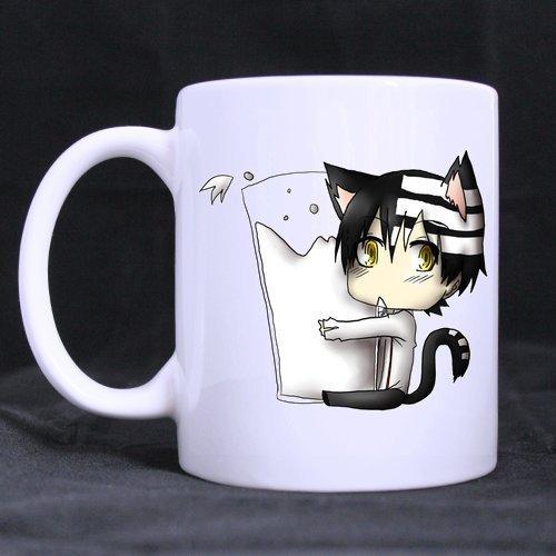 Japanese Cartoon Soul Eater Death the Kid Customized Design White Mug Coffee Mug Creative Milk Mug Personalized Tea Cup 11OZ