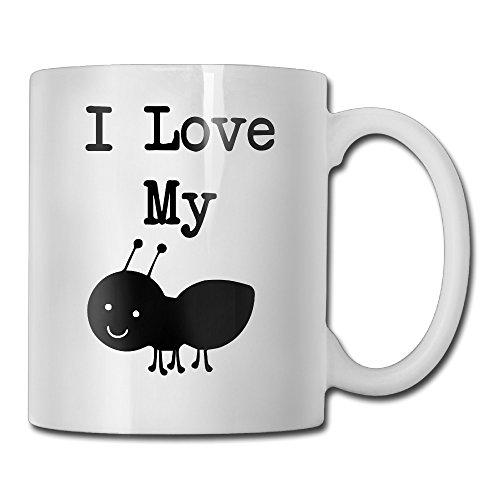 I Love My Aunt - Ant Funny Custom Mug 11oz Ceramic Coffee Mug Tea Mug Gift Mug