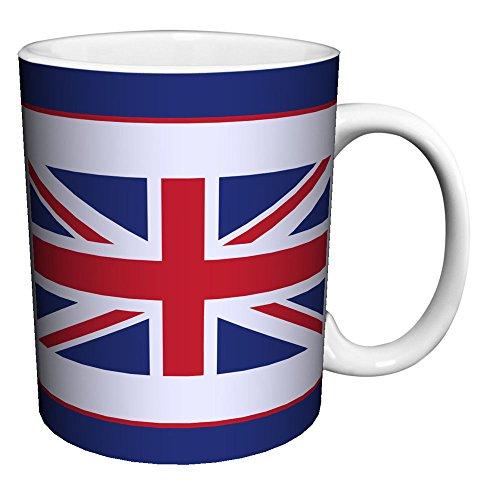 Union Jack Flag Novelty United Kingdom Pride Lifestyle Decorative Ceramic Gift Coffee Tea Cocoa 11 Oz Mug