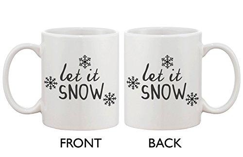 Cute Snowflake Winter Coffee Mug - Let It Snow