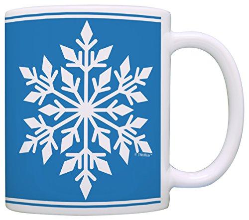 Funny Christmas Coffee Mug Snowflake Mug Winter Coffee Mug Snowflake Design Gift Coffee Mug Tea Cup Blue