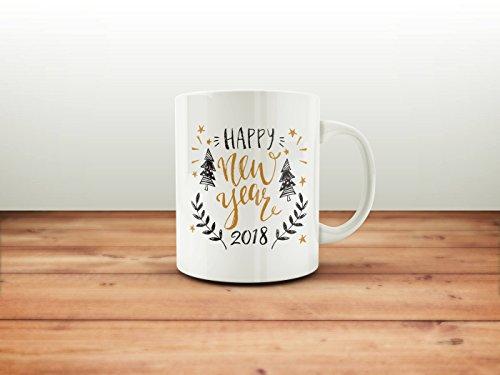 Happy New Year Mug Holiday Mugs Winter Coffee Mugs Holiday Gift Ideas Secret Santa Gifts Christmas gift mug 11oz 15oz gift