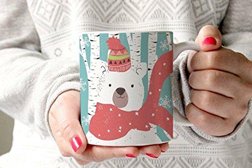 Polar Bear Mug Christmas Coffee Mugs Holiday Mugs Teacher Coffee Mugs Nurse Mug Winter Coffee Mug Christmas Gifts for Teachers