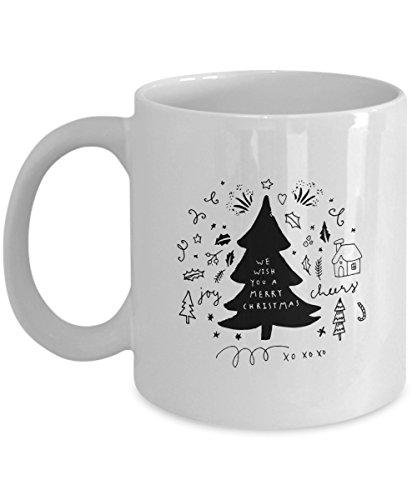 We Wish You A Merry Christmas Mug Christmas mug Winter Mug Coffee Mug Winter Coffee Mug Snowflake Mug Christmas Coffee Mug 15 oz