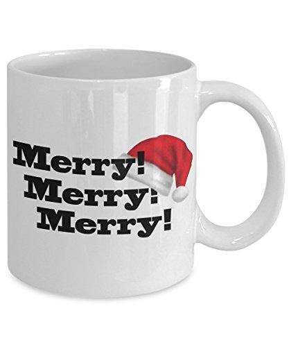 Merry Merry Merry Christmas Holiday Coffee Mug