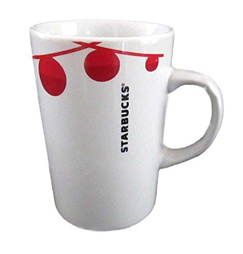Starbucks Red and White Christmas Ornament 2012 Holiday Coffee Mug 12
