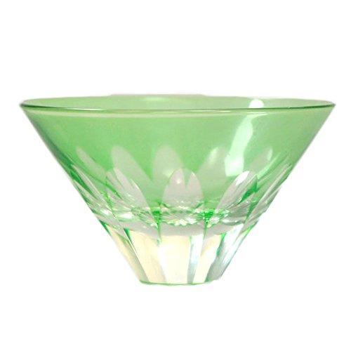 Limited Sale MtFuji Guinomi Sake Cup The Inverted image of Fujiyama Hand Blown Shot Glass - Green Japanese Crafts Sakura