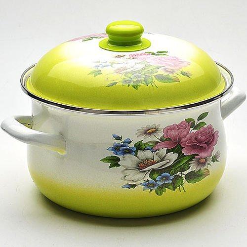 """4.9l Enameled Casserole Pot Saucepan 24cm (9.4"""") With Lid Mb-22337"""