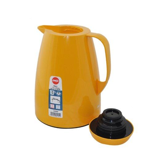 Emsa Basic Vacuum Jug Quick Tip Orange 1 L Tea Coffee Jug Thermos Flask 508359