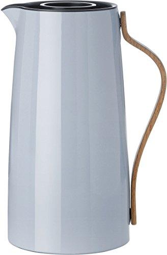 Stelton 12 Litre Stainless Steel Beechwood ABS Plastic Emma Coffee Vacuum Jug Blue Tone