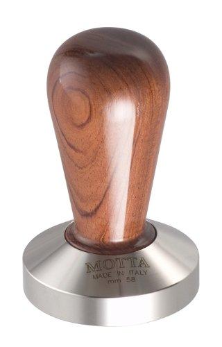 Motta 110 Professional Flat Base Coffee Tamper 58mm Bubinga Handle