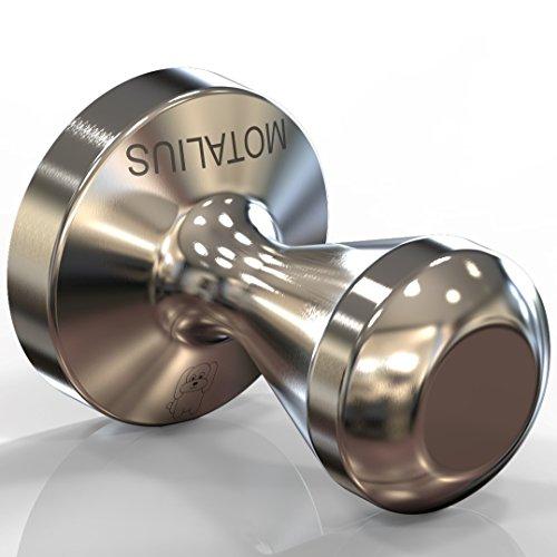 Motalius 58mm Espresso Tamper - Solid Unibody Design - 100 Stainless Steel - 58 mm Flat Base - Ground Coffee Tamper
