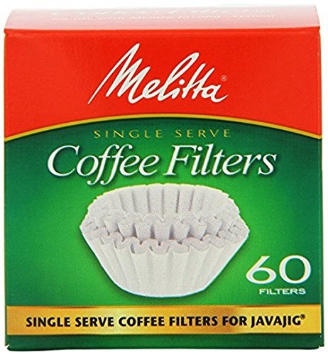 Melitta 63229 Single Serve Coffee Filters For JavaJigTM 60 Count Pack of 4