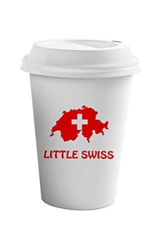 Style In Print Little Swiss Coffee Ceramic Travel Tumbler Mug 11oz