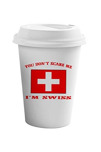 Style In Print You Dont Scare Me Im Swiss Coffee Ceramic Travel Tumbler Mug 11oz