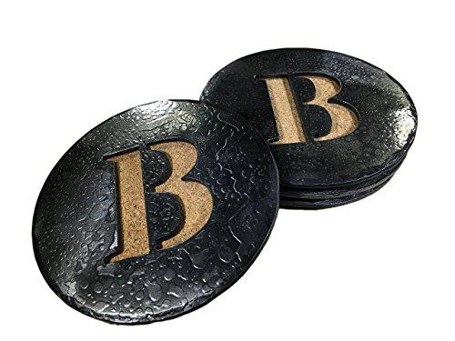 Forged Iron Circle Monogram Coasters - Set of 4