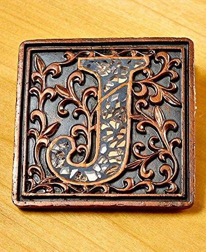 Mosaic Monogram J Coaster Set