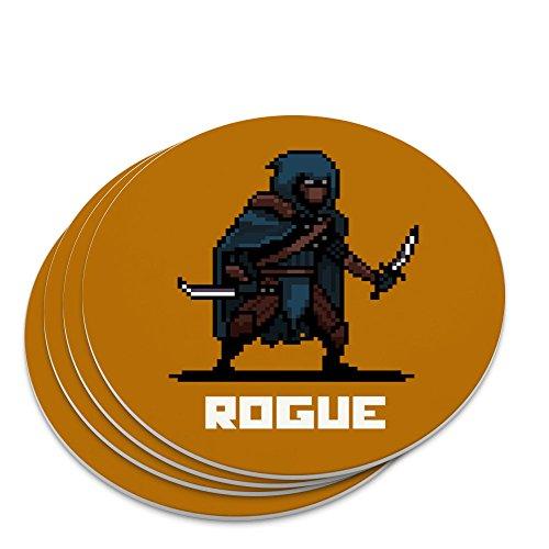 8-Bit Pixel Retro Rogue Thief Assassin Games RPG Novelty Coaster Set