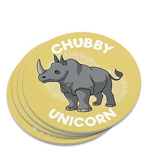 Chubby Unicorn Rhino Rhinoceros Novelty Coaster Set
