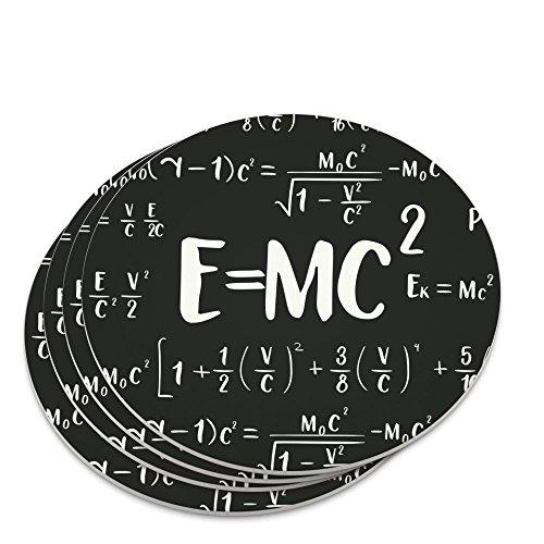 EMC 2 Energy Mass Equation Albert Einstein Theory of Special Relativity Math Novelty Coaster Set