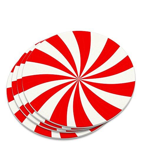 Peppermint Swirl Novelty Coaster Set