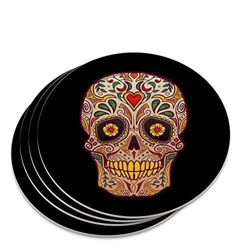 Skull Day of the Dead Southwestern Novelty Coaster Set