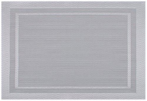 Kaf Home Moderne Placemat Set of 4 Silver 13 x 19