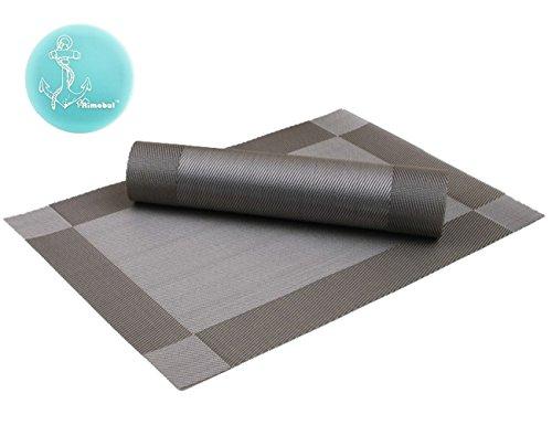 Rimobul PVC Placemat Set of 4 Silver Gray