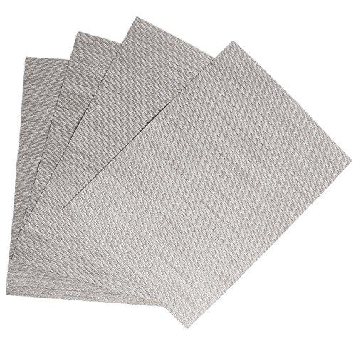 Benson Mills Twill Woven Vinyl Placemats Set of 4 Ice