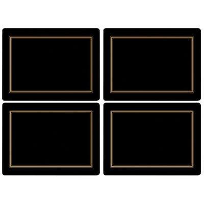 Pimpernel Classic Black Placemats - Set of 4