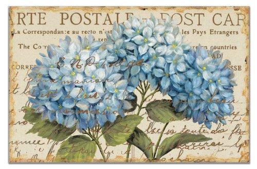 CounterArt Paper Placemat Blue Hydrangeas 24-Pack