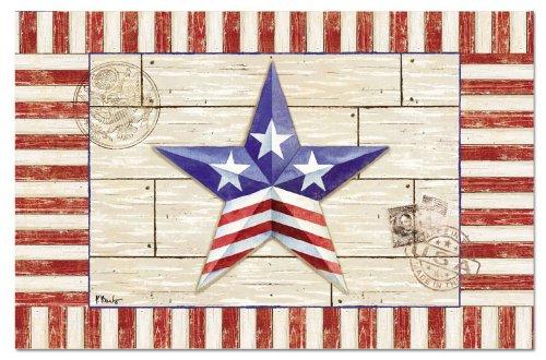 CounterArt Paper Placemat Patriotic Barn Star 24-Pack