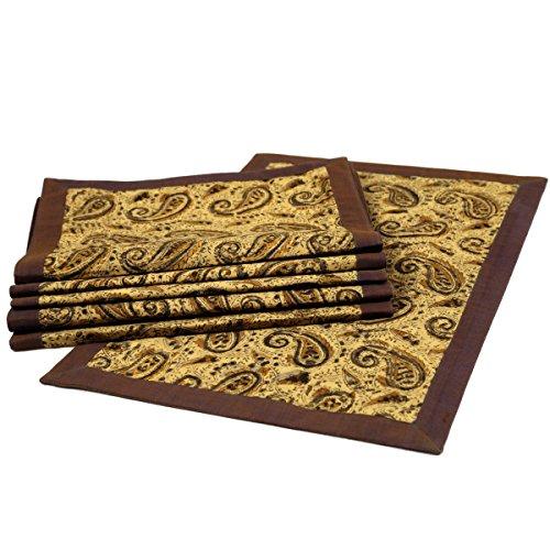 Hand Block Printed Kalamkari Cotton Table Mats Set of 6