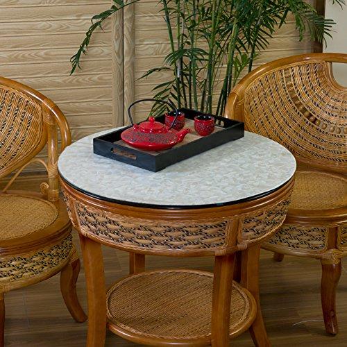 PVCWaterproofOil-proofRound Table TableclothTransparentSoft GlassTable MatTea Table MatsCrystal Plate Table Mat-C diameter50cm20inch