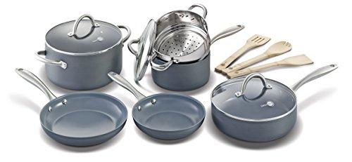 Greenpan 12 Piece Lima Hard Anodized Nonstick Ceramic Cookware Set
