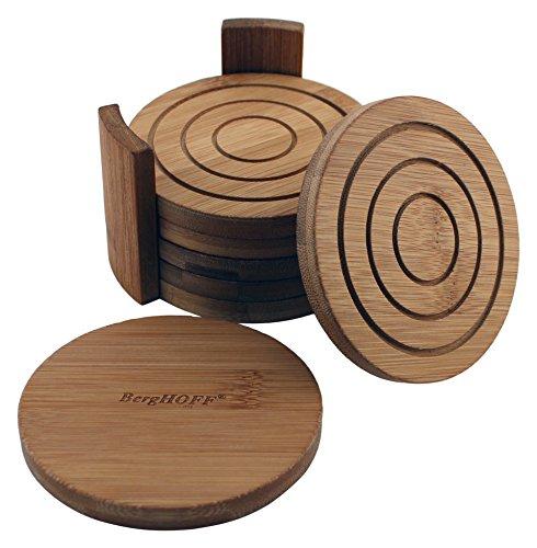 BergHOFF 7 Piece Bamboo Coaster Set Natural