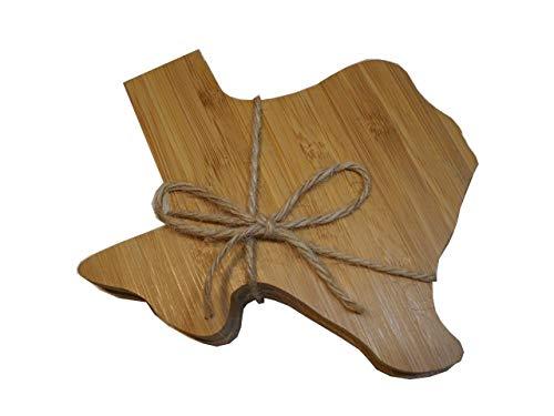 Texas Shaped Bamboo Coaster Set