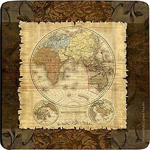 Thirstystone Bamboo Coaster Set Western Hemisphere S4