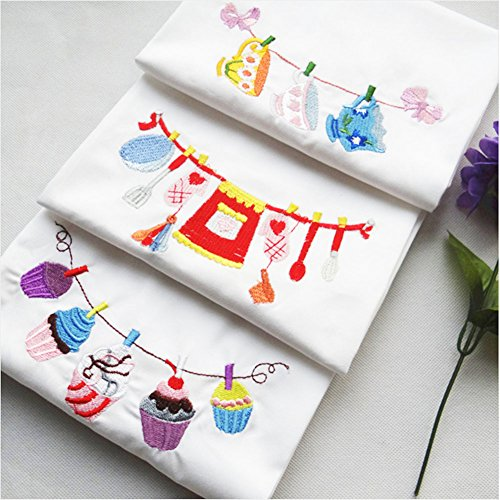 The factory is directly for home furnishing pure cotton cloth art embroidered napkin cloth delicate cup delicious cake baking tool the hand feels soft the texture is dense embroider is exquisite