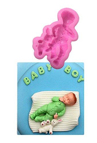 VWH Baby Boy Silicone Fondant Mold Cake Jelly Molds Kitchen Baking Tool Chocolate Mould Cake Baking Decorating Kits