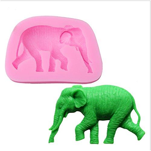 VWH Elephant Silicone Fondant Mold Cake Jelly Molds Kitchen Baking Tool Chocolate Mould Cake Baking Decorating Kits