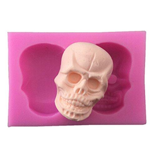 VWH Skull Head Silicone Fondant Mold Cake Jelly Molds Kitchen Baking Tool Chocolate Mould Halloween Cake Baking Decorating Kits