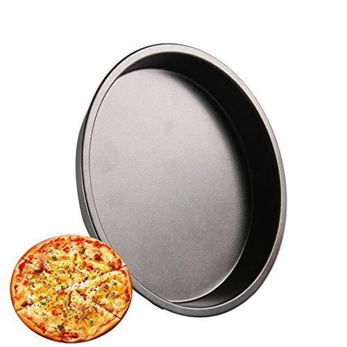 Lesgos Premium Non-Stick Pizza Pan Teflon Scratch Resistant Carbon Steel Bakeware Pizza Baking Pan 6 inch