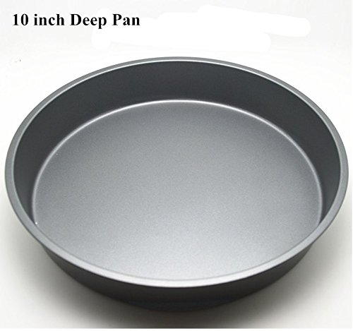 Fangfang Nonstick Deep Pizza Pan Pizza Tray Evenly Bakes Heat 10 Inch