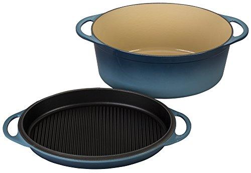 Le Creuset of America Cast Iron Cookware Oval Dutch Oven 775Qt Marine